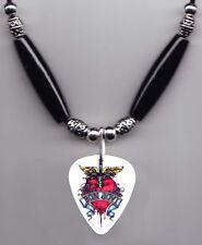Bon Jovi Jon Bon Jovi Signature White Guitar Pick Necklace - 2007 Tour
