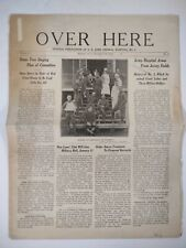 Over Here 1919 US ARMY GENERAL HOSPITAL NO 3 WWI Military Paper RAHWAY NJ
