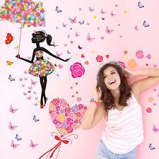 Girl & LOVE Home Decor Art Wall Sticker Removable Mural Decal Vinyl Room Paper