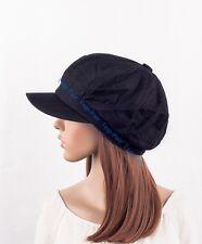 British Womens Lady Cotton Summer Fall Baggy Newsboy Visor Beanie Beret Hat Cap