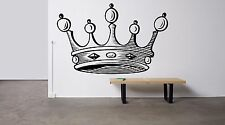 Wall Room Decor Vinyl Sticker Mural Decal Crown King Royal Prince Heraldy F2122