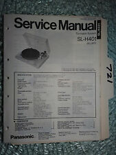 Panasonic SL-h401 Technics Service Manual Original Reparatur Buch Stereo Plattenspieler