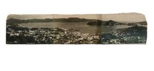 Vintage Tarjeta Postal Vista de Noche Acapulco Mexico  Tri -Postcard RPPC