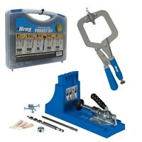 Kreg K4 Pocket Hole Jig with Face Clamp and  Screw Kit for Woodworking
