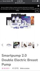 lansinoh smartpump 2.0 double electric breast pump purple.