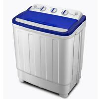 Portable Mini Washing Machine Compact Twin Tub 16lb Washer Spin Dryer White