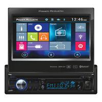 """NEW PD724B Power Acoustik S. Din 7"""" Flip out AM/FM/CD/DVD/USB/BT Remote"""