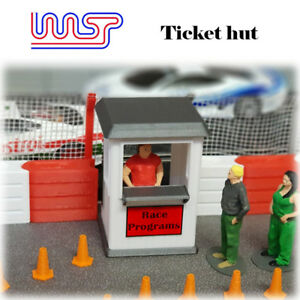 WASP 3D printed Ticket/Program hut, track side 1/32 scale