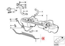 Genuine BMW E36 Cabrio Compact Coupe Sedan Fuel Feed Line OEM 16111182827
