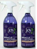 (2 Bottles) Joy Mangano Miracle Clean Warm Vanilla Multi Surface Cleaner 28 Oz