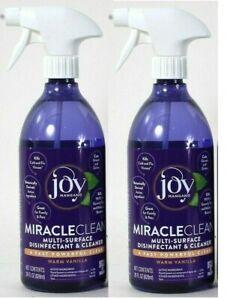 (2 Bottles) Joy Mangano Miracle Clean Warm Vanilla Multi Surface Cleaner 28 Oz
