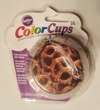 NEW Wilton ColorCups 415-2906 36 Count PRETZEL Baking Cups/Cupcake Liners