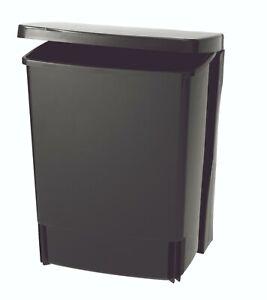 New BRABANTIA Built-in Binny Bin Rectangular 10 Litre Black Bucket Rubbish Bin