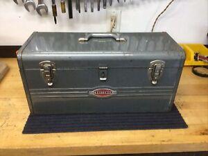vintage metal craftsman tool box With Old Logo