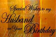 Birthday Braille Added Greeting Card For the Blind Special Wish Husband - BF036