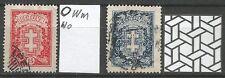 Lithuania Litauen Lietuva 1930 U Mi 291-292 Sc 216-217 Vytis Warriors Cross iss