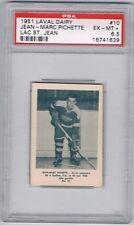 1951 Laval Dairy Lac St. Jean Hockey Card #10 J-M Pichette Graded PSA 6.5