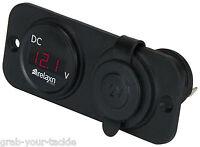 Digital Volt Meter & Cig Power Outlet Combo Voltmeter 4 x 4 Truck car Voltage