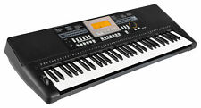 Keyboard 61 Tasten Digital Piano Sounds Rhythmen Lernfunktion Musik USB schwarz