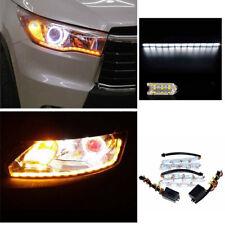 12V Dual Tearful Eyes LED Light Turn Signals Daytime Running Lamp Sturdy BIS-