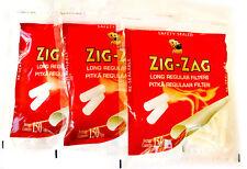 ZIG ZAG Long Cigarette Filter tips - 3 x 150 filters