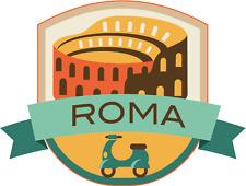 "Roma Italy World City Travel Label Badge Car Bumper Sticker Decal 5"" x 4"""
