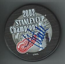 Jesse Wallin Signed 2002 Stanley Cup Champions Detroit Red Wings Puck