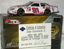 2004 RCCA Dale Earnhardt Jr #81 KFC AUTOGRAPHED ELITE 1/24 car#805/4440 W/COA