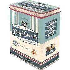 Retro DOG BISCUITS STORAGE TIN 3D Cookie Box NOSTALGIC ART