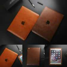 "Genuine Leather Slim Stand Flip Case Cover For iPad Air 4 Mini 4 Pro 12.9'' 9.7"""