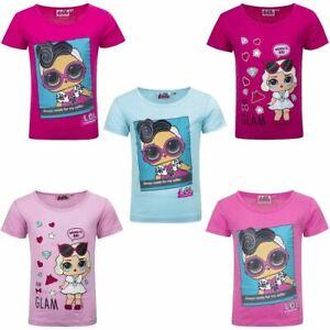 Girls Kids LOL Surprise Dolls Short Sleeve Cotton T Shirt Age 3-8 Years