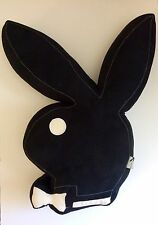 "Vintage Playboy Bunny Pillow 21"" Black and White Plush Stuffed Pillow"