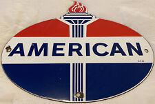 New ListingVintage American Gasoline Porcelain Sign Gas Station Pump Plate Standard Oil
