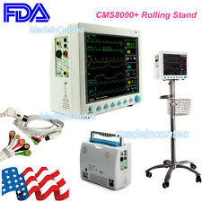 "ICU/CCU Vital Signs Monitor CONTEC 6 Parameter 12""Color LCD Screen+Rolling Stand"