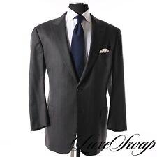 #1 MENSWEAR Ermenegildo Zegna Milano Cut 15mil15 Grey Pink Pinstripe Suit 58 L