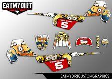 Para YAMAHA PW50 1981-2010 kit completo personalizado de gráficos Pegatinas Calcomanías De Motocross MX