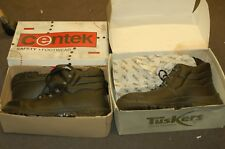 NEW MENS LEATHER SAFETY WORK BOOTS STEEL TOE CAP 13 48