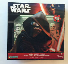 "Star Wars Magic Motion Puzzle Kylo Ren Disney Prime Motion 100p 12"" x 9"" NEW HTF"