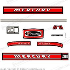 Mercury 1968 20hp Outboard Decal Kit - Reproduction Decals In Stock!