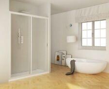 Porta doccia scorrevole acrilico e pvc bianco h.185cm Lucy