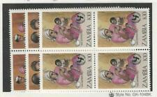Zambia, Postage Stamp, #441-443 Block Mint NH, 1988
