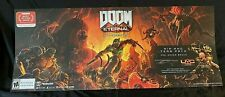 "Doom Eternal Promotional 52"" X 22"" Double Sided Poster Free Shipping GameStop"