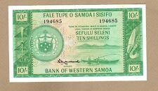 WESTERN SAMOA: 10 Shillings Banknote, (AU), P-13a, 1963, No Reserve!
