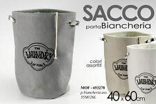 SCATOLA SACCA BIANCHERIA LAUNDRY PORTA OGGETTI 40*60CM COLORI ASS MOF 653278