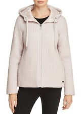 DKNY Active Reversible Hooded Draw string Down Jacket Ivory L
