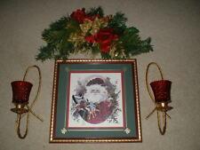 6-pc Home Interiors Holiday Grouping - Old World Santa