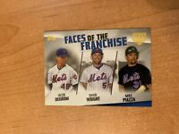 2019 Topps Series 2 - Degrom / Wright / Piazza 150th Faces of the Franchise /150