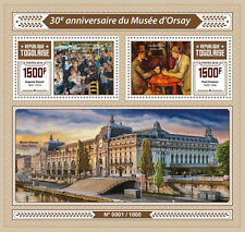 Togo 2016 MNH Orsay Museum Musee d'Orsay 2v S/S Renoir Cezanne Paintings Stamps