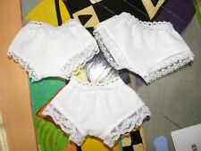HANDMADE DOLL PANTIES TO FIT YOUR SHIRLEY TEMPLE DOLLS..3 PAIRS  $5.50
