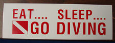 Scuba Diving Bumper Decal Sticker Eat Sleep Dive DS51